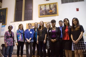 CLI Fellows at the December 2014 presentations: (from left to right) Salima Etoka, Melody Fulton, Chloe Shiras, Danielle Carp, Jennifer Schackner, Richelle Benjamin, Victoria Smith Ellison, Sean Navin, Minh Nguyen, and Minh Anh Nguyen