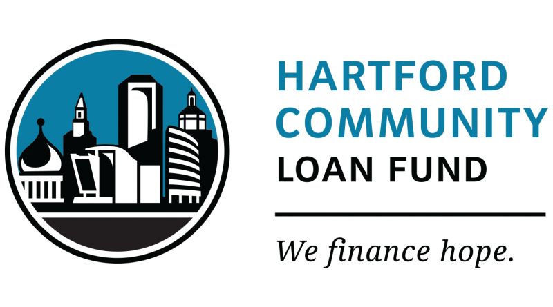 "Hartford Community Loan Fund logo. ""We finance hope."""