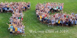 Trinity College Class of 2019, Orientation Week