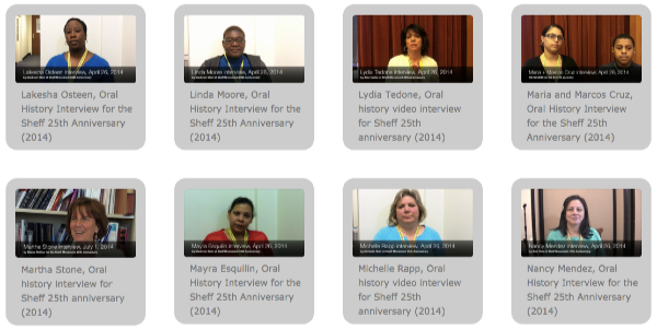 View the Sheff 25th Anniversary Oral History Interviews