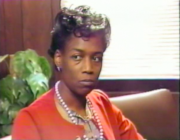 Saundra Foster talking about her decision to send her son to a school in Bloomfield during an interview. Source: Jumping the Line. Television broadcast. 1985. View on the web.