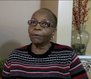 Mae Willie Lumpkin during an interview in 2014 Source: Trinity College Digital Collection