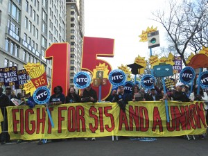Fight for 15NYC banner - Sonia Singh