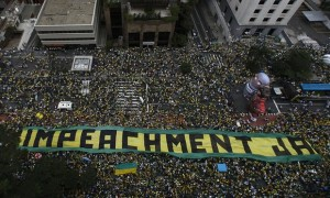 Protest against President Dilma