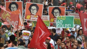 Rally in support of Dilma