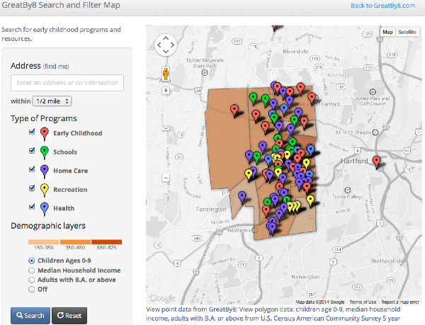 Click to explore GreatBy8 interactive map.