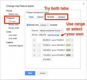 google fusion change feature style