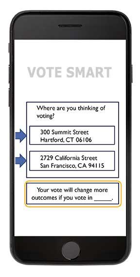 screenshot of vote smart app