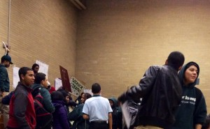 students from Weaver High School are protesting against school shutdown