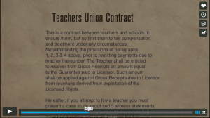The teachers union contract that allows them Tenure and states that the teachers can not be fired.