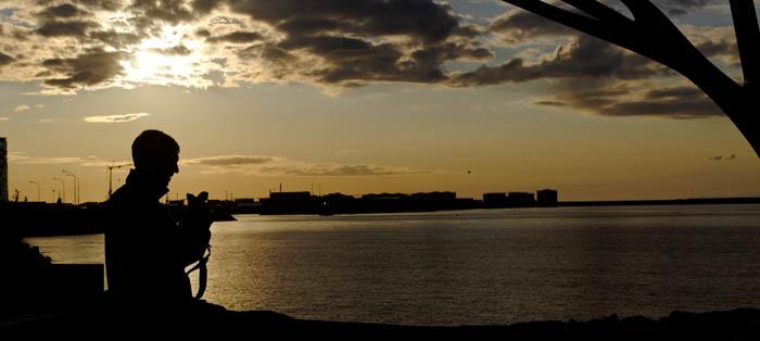 07 Reykjavik sunset - at 10 PM