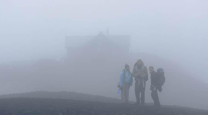 20 Fimmvörðuskáli in the mist