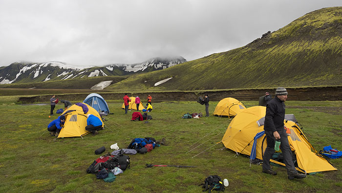 Our camp site at Álftavatn.
