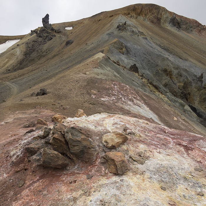 crazy-colored hills and ...