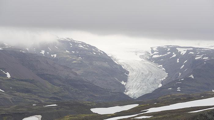 Öxarfellsjökull, a small glacier coming off the Vatnajökull ice cap.