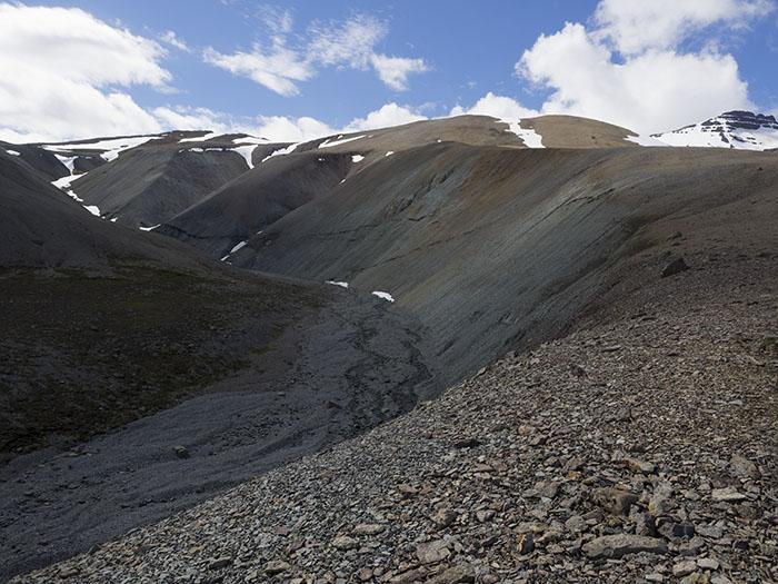 About halfway up Víðibrekkusker
