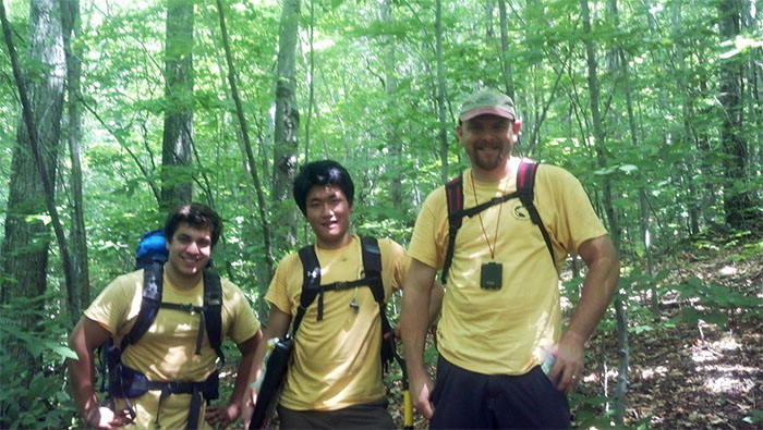 Dan, Justin and Prof. Gourley in the White Mountains