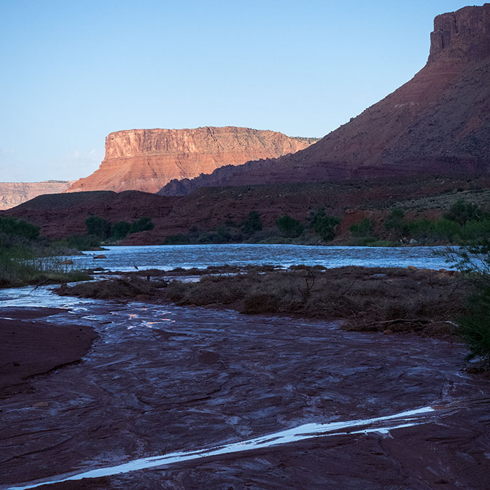 Our campsite at the Colorado River.