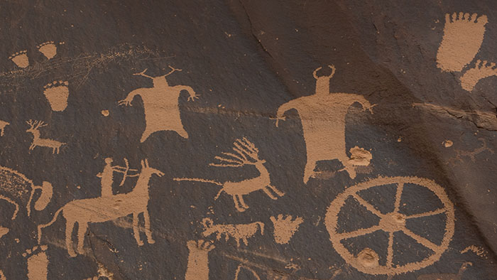 The man-eating cows are still alive and well at Newspaper Rock.