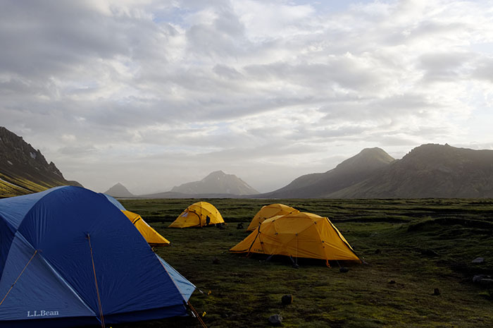 Our camp at Álftavatn.