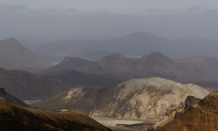 The rhyolite hills of Landmannalaugar.