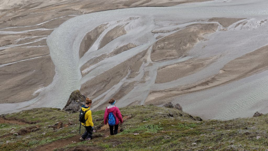 Hiking in Landmannalaugar.