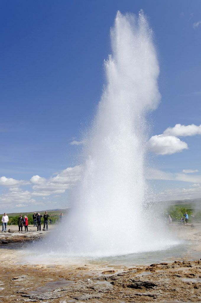 Strokkur, the local geyser going off every few minutes or so.