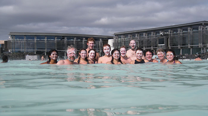 At the Blue Lagoon.