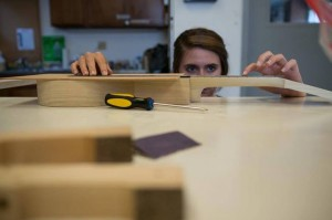Nicole Muto-Graves '15, building her tiple.