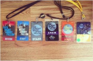 Rachael's Staff Badges from Late Night With Jimmy Fallon