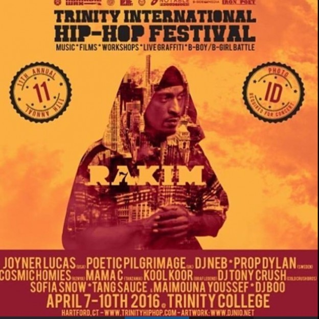 Poster for the 2016 Trinity International Hip Hop Festival