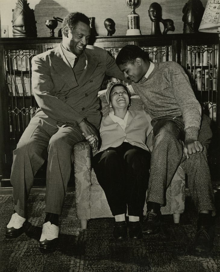Paul Robeson and his family in their Enfield home