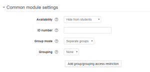 separate or visible groups