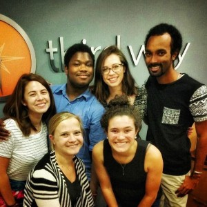 Antonia Lluberes '16, seen on the bottom right, with Third Way's group of summer interns.