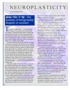 Making Strides 2010_Neuroplasticity Page 7