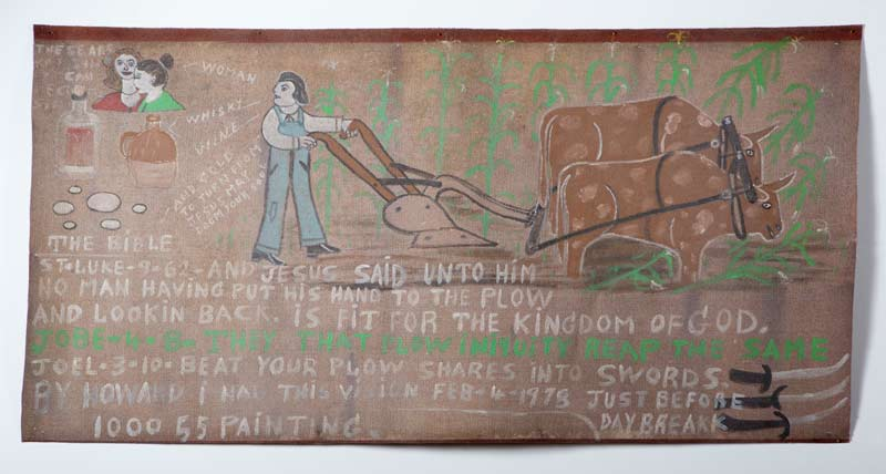 Man Having Got His Hand to the Plow Howard Finster  (1906-2001)