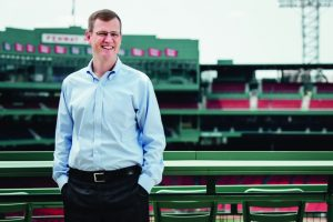 Sam Kennedy '95 inside Fenway Park (Photo: Pete Tschudy)