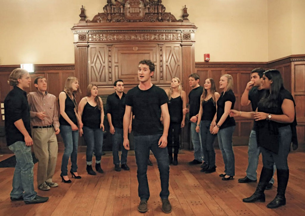 The Dischords perform during spring-semester auditions in January 2014. Photo by Bob Handelman