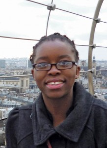 Salima Etoka '15 in Paris, France, where she spent a semester at the Trinity campus.