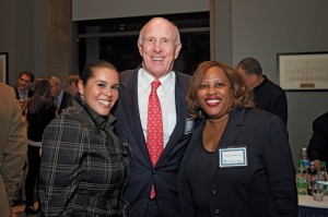 Raether joins Shakira Ramos '02 and Patrice Ball-Reed '80 at the Long Walk Societies/Wall of Honor Reception in October 2011.