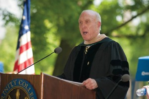 Board Chair Paul Raether '68, P'93, '96, '01 offers his remarks at Commencement 2012.