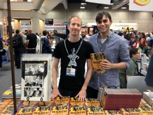 Artist Nate Powell and Andrew Aydin '06 attend the 2013 Comic-Con International in San Diego, California.