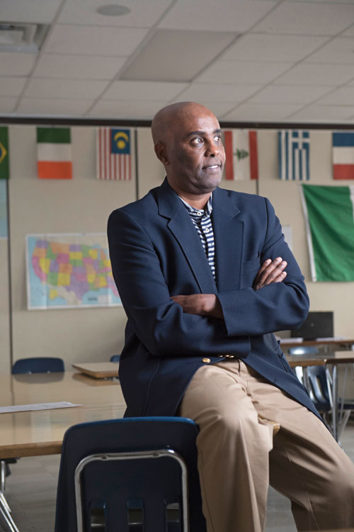 Ahmed Yusuf IDP'97 in his South Minneapolis classroom