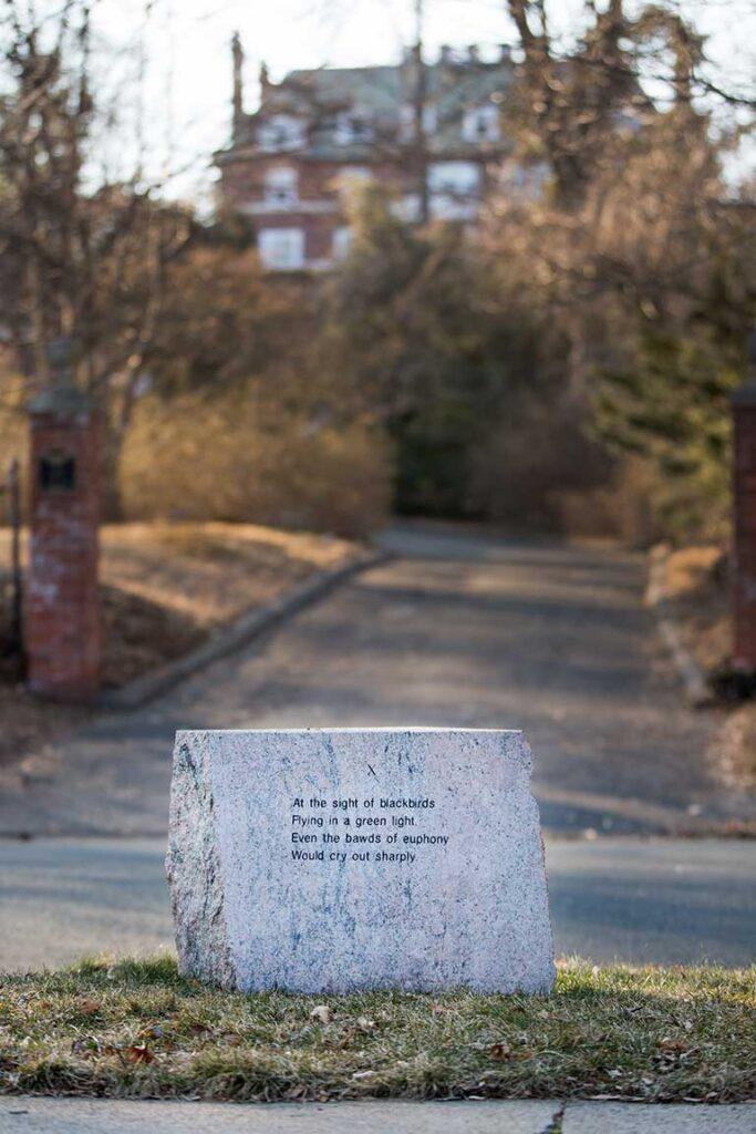 Wallace Stevens stone marker