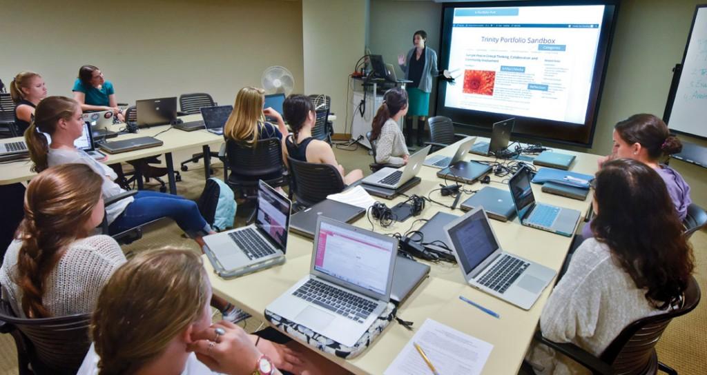 Sue Denning leads a class session. Photo: Richard Bergen