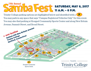 Samba Fest Parking options