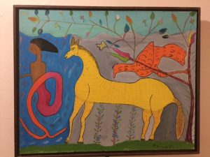 "COURTESY OF Trip Slaymaker '18. Mather's Exhibit features Paul Mannot, ""Woman on Horseback"""