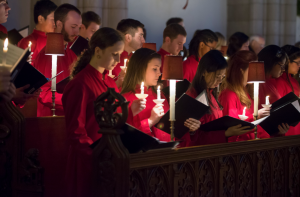 COURTESY OF Al Ferreira Many Trinity students performed at Lessons and Carols.