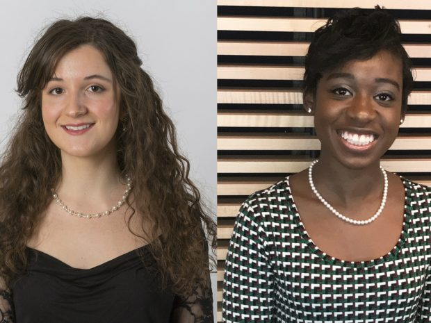 Trinity Alumnae Huguley '15 and Davidson '16 Receive Fulbright Grants