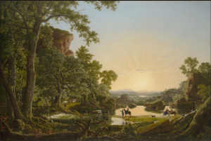 Frederic Edwin Church American, 1826-1900 Hooker and Company Journeying through the Wilderness from Plymouth to Hartford, in 1636, 1846. COURTESY OF thewadsworth.org